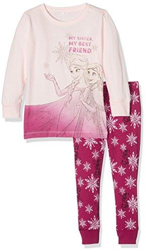 NAME IT Mädchen Zweiteiliger Schlafanzug Nitfrozen Abela Nightwearset Nmt Wdi, Mehrfarbig (Anemone), 122
