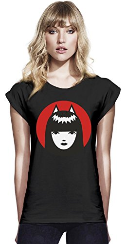 Emily The Strange Womens Continental Rolled Sleeve T-Shirt Small