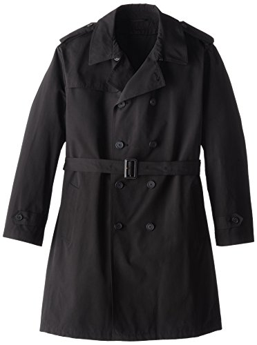 Stacy Adams Herren Top Coat Big and Tall Rain Big & Tall Double Breasted Full Length - Schwarz - 60 (Herren-oberbekleidung Big Tall)