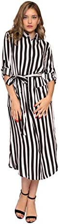 Aarzoo Damen Hemdkleid mit Durchgehender Knopfleiste