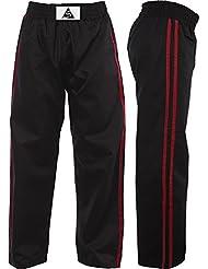 Esprit soie en satin noir avec rayures rouge pour enfant Kickboxing Pantalon pour femme