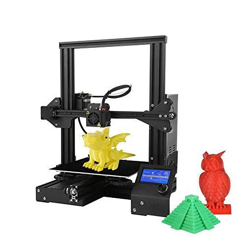 Colorfish A13 Impresora 3D El kit de bricolaje es fácil de instalar, el marco está hecho de aluminio y tiene la función de restaurar la impresión. El área de impresión es 220 * 220 * 250 mm (A13)