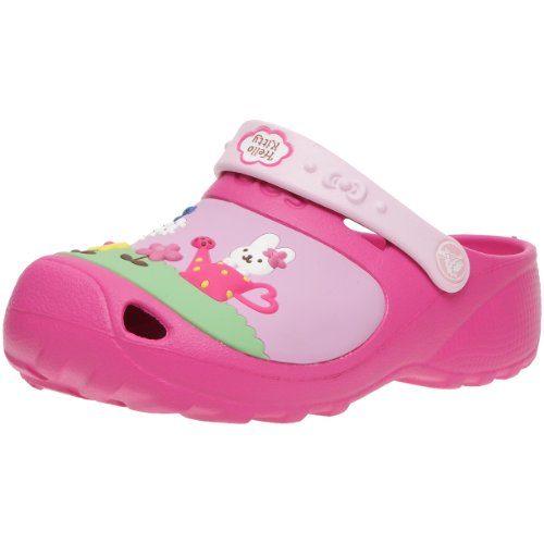 Crocs - Hello Kitty Custom Clog, Sabot Bambina Rosa (Fuchsia/Bubblegum)