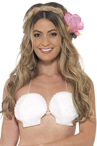 Smiffys Damen Muschel-BH, One Size, Weiß, - Am Besten Ariel Kostüm