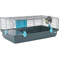 Zolux Cage pour Lapin/Cobaye Bleu 104 x 64 x 39 cm