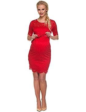 [Sponsorizzato]Vestito premaman Carmen rosso Abbigliamento Premaman MY TUMMY ®©™ Abiti eleganti donne incinte