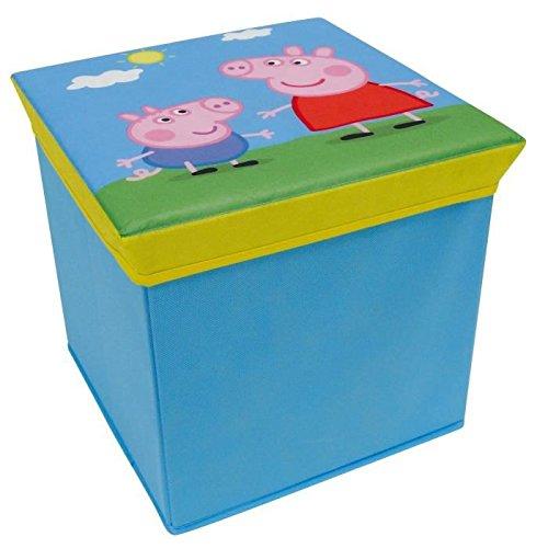 FUN HOUSE 712602 Peppa Pig Tabouret de rangement pour enfant Intissé Bleu 30 x 30 x 30 cm