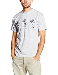 Disney Mickey Mouse Evolution Three Poses, Camiseta para Hombre