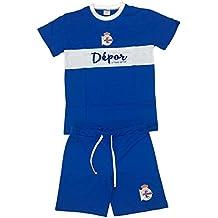 Real Club Deportivo de La Coruña Pijdep Pijama Corta, Infantil, Multicolor (Azul/