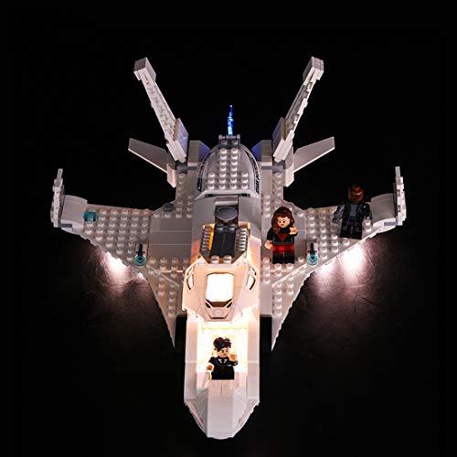 BANDRA Licht Kit - LED Licht-Set für Lego 76130 - Marvel Spider-Man - Far from Home Stark-Jet und der Drohnenangriff Bauspielzeug (Nicht enthalten Das Lego-Modell) (Spiderman-lego-sets)
