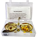 Brass Balance - Learning Kit For Children 6-13 Years With Objects And Weights