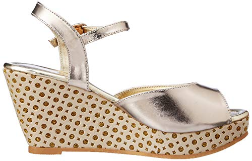 Footin Women's Beige Fashion Sandals-6 UK/India (39 EU) (7618159)