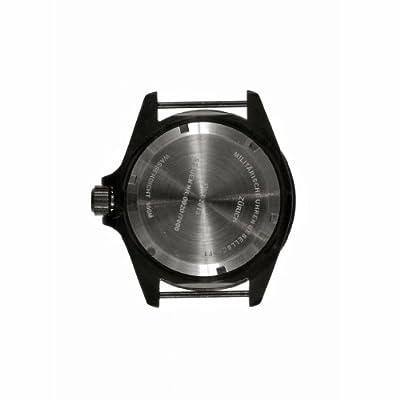 MWC 24 Jewels Automatic 300m Submariner Acero Inoxidable PVD Negro Militar Hombre Reloj de MWC