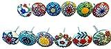 Lot de 12 boutons colorés en céramique pour tiroirs et poignées de meubles
