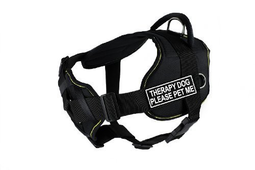 dean-tyler-dt-fun-ch-tpydpm-yt-l-fun-dog-harness-with-padded-chest-piece-therapy-dog-please-pet-me-l