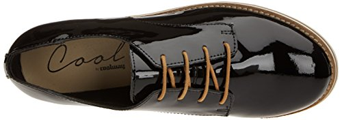 Coolway Damen Avocado Derby-Schuhe Schwarz (Black)