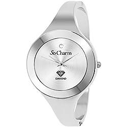 Diamonds Metal Silver So Charm Bracelet Ladies Watch