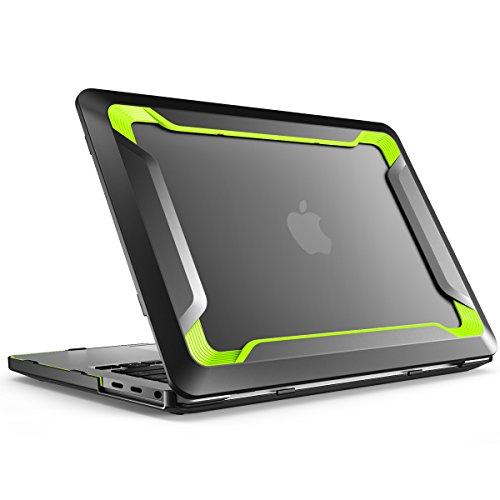 i-Blason MacBook Pro 15 Hülle 2016/2017/2018 [Heavy Duty] Schutzhülle Bumper Case TPU Cover für MacBook Pro 15 Zoll A1990/A1707 mit Touch Bar und Touch ID (Grün) - White Macbook Apple Case