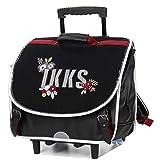 IKKS - Cartable à roulettes Black Tea 41 CM - Haut de Gamme