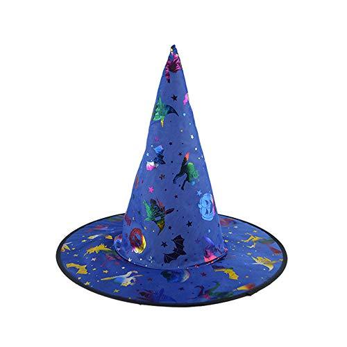 ZEELIY Hexenhut mit Haarreif für Hexen Kostüm Halloween Party Einheitsgröße Schwarze Hexe Hüte für Halloween Kostüm Zubehör Magic Cap Party Stützen Zubehör (Kleinkind-halloween-kostüme Einzigartige 2019)