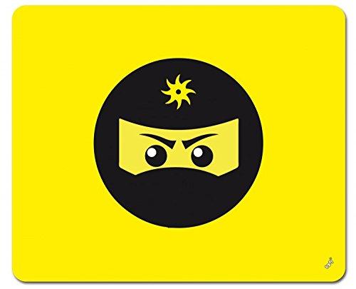 Preisvergleich Produktbild 1art1 109099 Gaming - Ninja Icon, Gelb Mauspad 23 x 19 cm