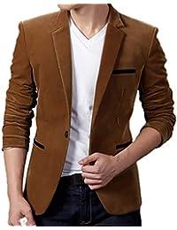 Manteau En Hommes Côtelé Manches Mode Longues Costume De Blazer À Fnkdor Veste Pour Décontracté Velours qx718ngZw