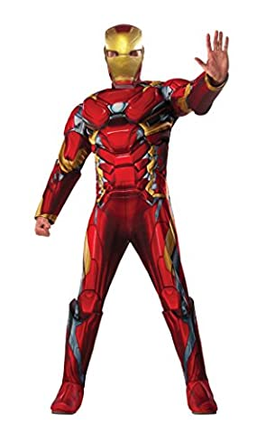 Captain America 3 Deluxe Iron Man Costume Adult X-Large