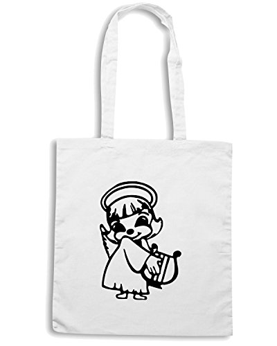 T-Shirtshock - Borsa Shopping FUN0433 1889 religious stickers 05 30141 Bianco