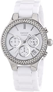 Dkny Casual Watch For Women Analog Stainless Steel - Ny4985, White Band