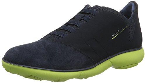Geox Herren U Nebula B Low-Top, Blau (Navy/Lime Greencf43s), 41 EU