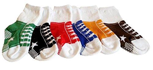 Baby-Socken für Jungen / Mädchen, Sportschuh-Design, Anti-Rutschsohle, Altersgruppe: 1-2 Jahre