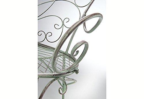 Kobolo Metall-Sitzbank mit Ornamenten Metallbank - 5