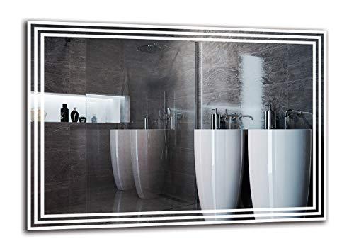 Espejo LED Premium - Dimensiones del Espejo 100x70 cm - Espejo de baño con iluminación LED - Espejo...