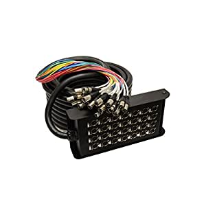 Black Cable BCA4004 Boitier de scène câble XLR24/4 30 m pro