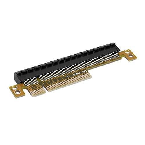 Hochwertige PCI-E Express 8X auf 16X Adapterkarte ohne verlängertes Kabel Hot Promotion - Schwarz & Gelb -