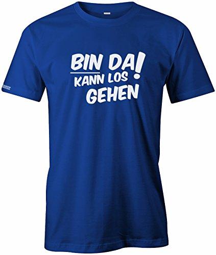 Bin da kann los gehen - Herren T-Shirt Royalblau