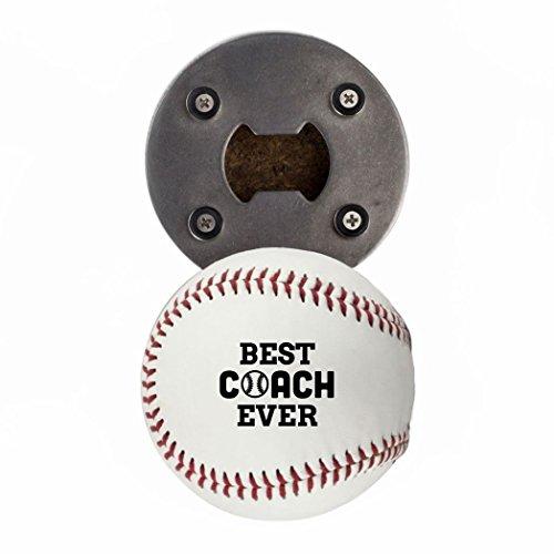 Baseball COACH Geschenk, Flasche OPENE aus einer echten Baseball, Best Coach Ever, Cap Catcher, Kühlschrank Magnet