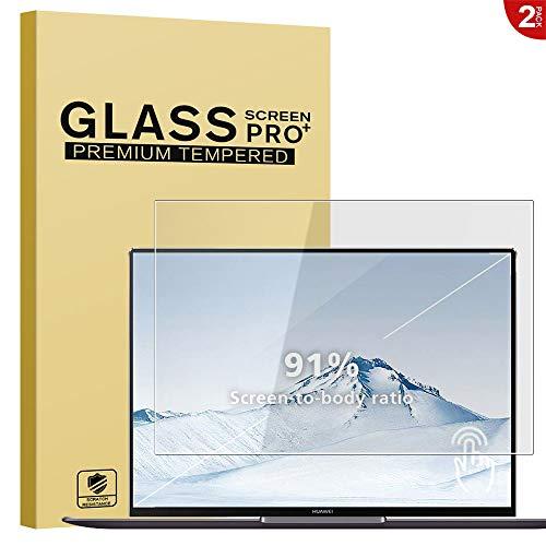 RIFFUE 2 X Huawei MateBook X Pro Panzerglas Schutzfolie, 9H Härte HD Tablet Dispayschutzfolie [Blasenfrei] [Anti-Kratzer] Screen Protector Tempered Glass für Huawei MateBook X Pro 13.9