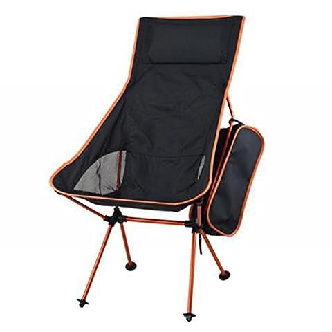 Campingstuhl Faltender kampierender Stuhl Strand Angeln Sitz für Wandern Sporting Touring Outdoor (Büro Platz Klapptisch)