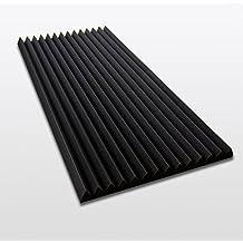PYRA Bass Lamellen 5 cm FSE, 100x50x5cm, Schwarz, FSE (flammhemmend nach MVSS302) (Verpackungseinheit = 1 Platte = ca. 0,5 m² )