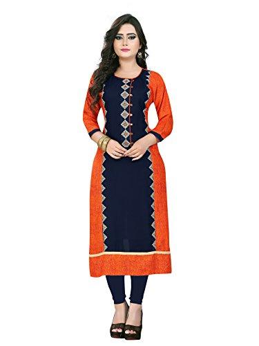 Vaikunth Fabrics Women's Rayon Kurti - Multicolour_XX-Large