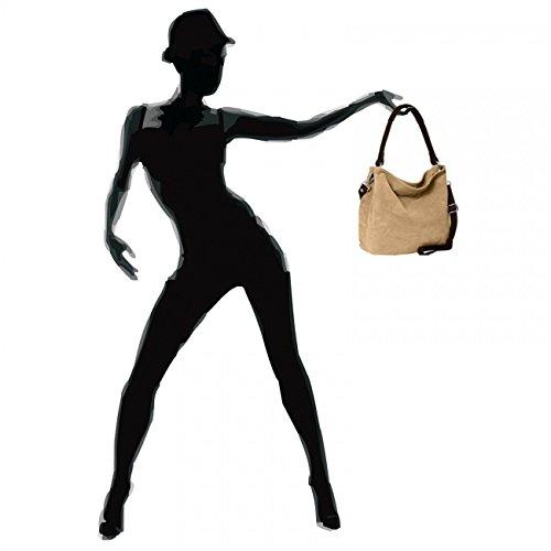 CASPAR Taschen & Accessoires, Borsa a spalla donna Khaki