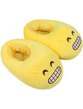 Dammer Scarpe Inverno Caldo Peluche Pantofole Emoji,Faccina Anti-Skid Casa Cotone Slipper,Slip On Compatibile...