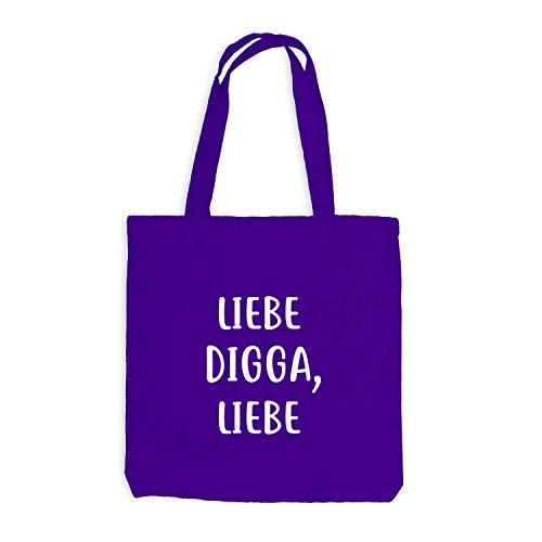 Love DIGGA Violett Liebe Fun Hamburg Liebe Gift Jutebeutel Style 6aBqTnww