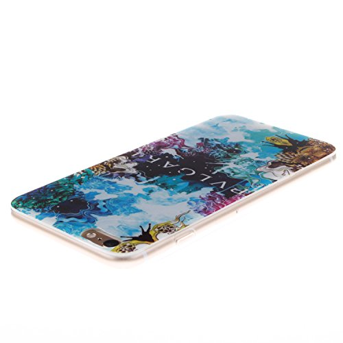 "Apple iPhone 6 Plus 5.5 hülle MCHSHOP Ultra Slim Skin Gel TPU hülle weiche Silicone Silikon Schutzhülle Case für iPhone 6 Plus (5.5"") - 1 Kostenlose Stylus (Feder und Flying Birds (Feather and Flying  flora labyrinth mit ästhetizismus blume (Flora's Maze"