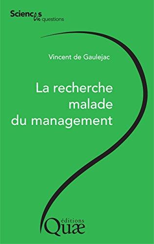 La recherche malade du management (Sciences en questions) Pdf - ePub - Audiolivre Telecharger
