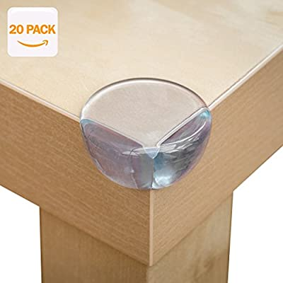 AYCORN Best Safety Corner Protectors for Kids (20 Pack), Premium Quality Clear Soft and Large Table Edge Bumper Guards for Child and Baby Proofing. Installs in Seconds with Extra Strong Adhesive - cheap UK light shop.