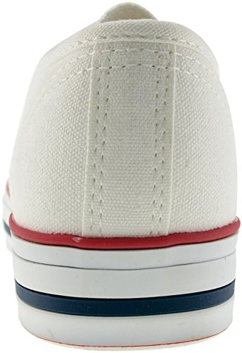Maxstar 6 trous C1 Low Baskets Chaussures en toile Blanc - C1-White