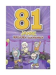 Depesche 5598.103Tarjeta de felicitación con diseño de Archie, 81. Cumpleaños