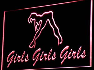 Enseigne Lumineuse i767-r Girls Night Club Bar Beer Wine Neon Light Sign